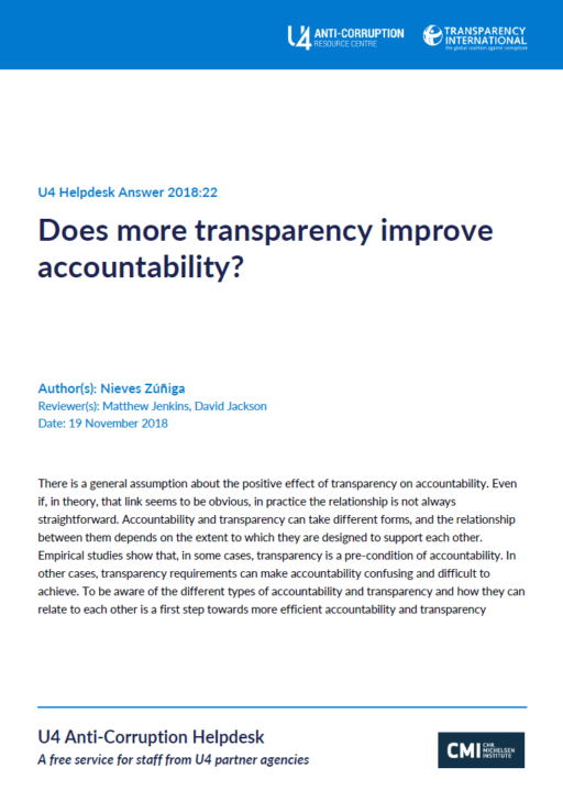 Does more transparency improve accountability?
