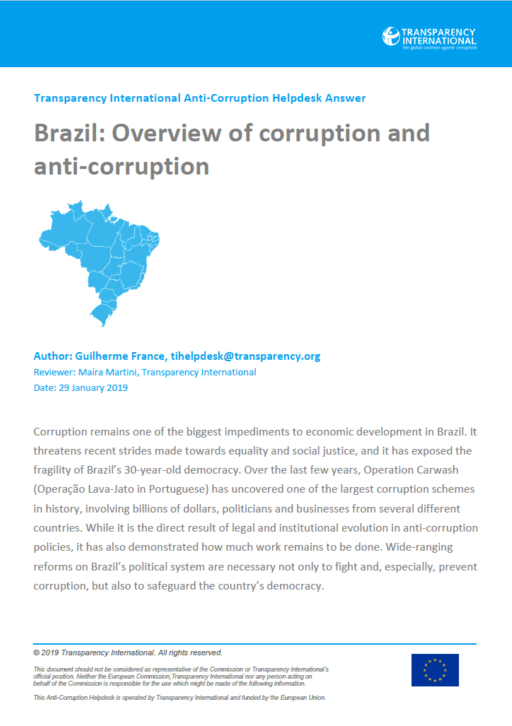 Brazil: overview of corruption and anti-corruption