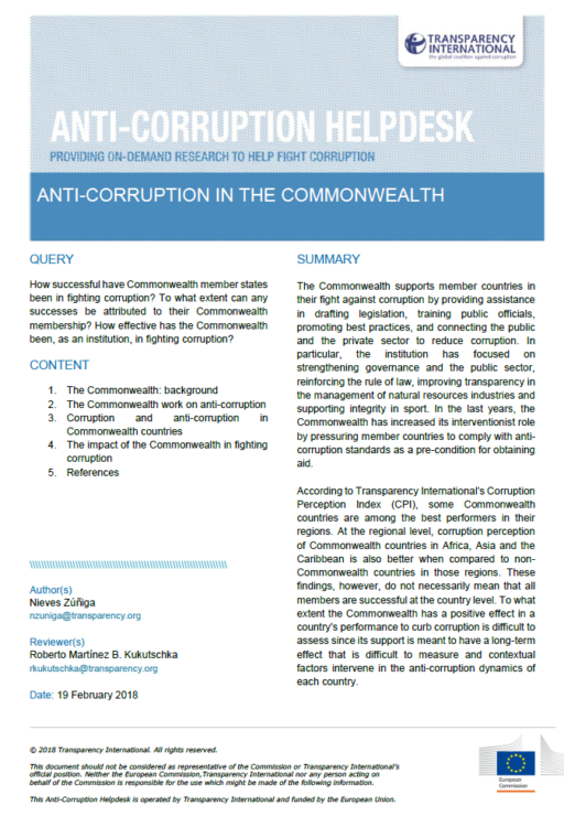 Anti-Corruption in The Commonwealth