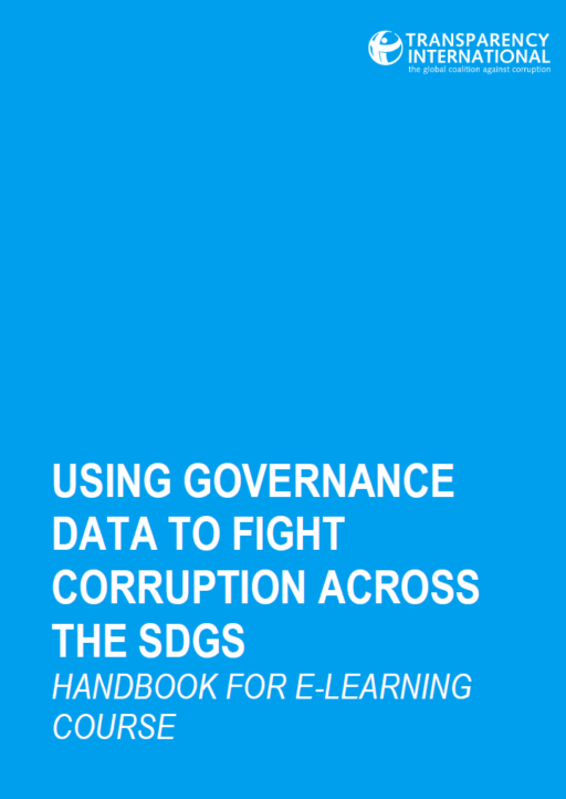 Using governance data to fight corruption across the SDGs: Handbook for e-learning course