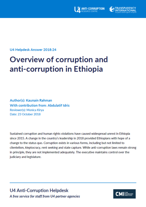 Overview of corruption and anti-corruption in Ethiopia