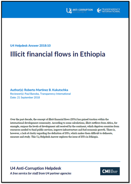 Illicit financial flows in Ethiopia