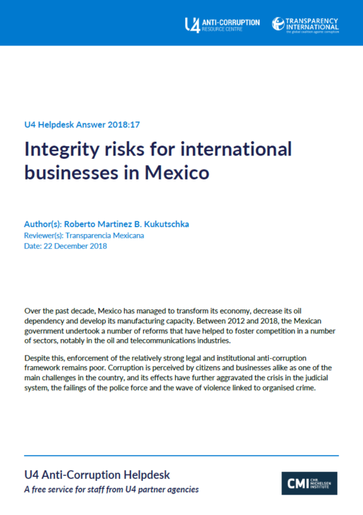 Integrity risks for international businesses in Mexico