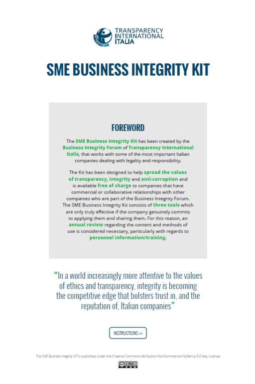 SME business integrity kit