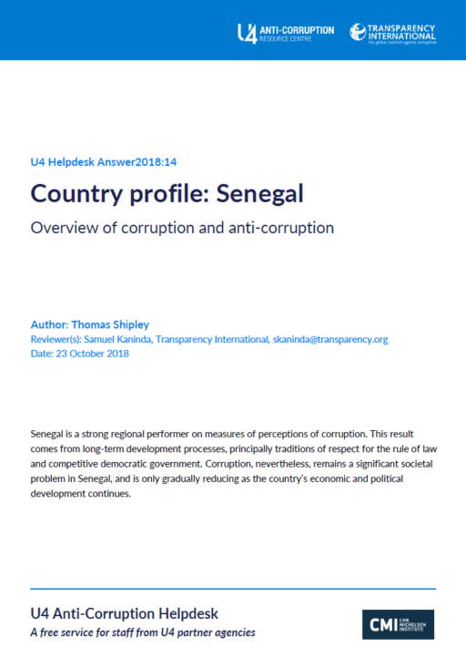 Senegal: overview of corruption and anti-corruption