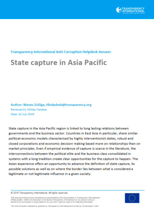 State capture in Asia Pacific