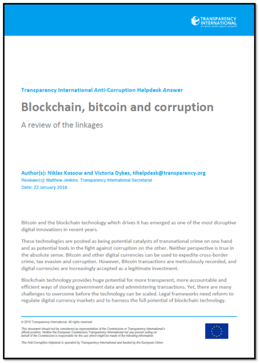 Bitcoin, blockchain and corruption: an overview