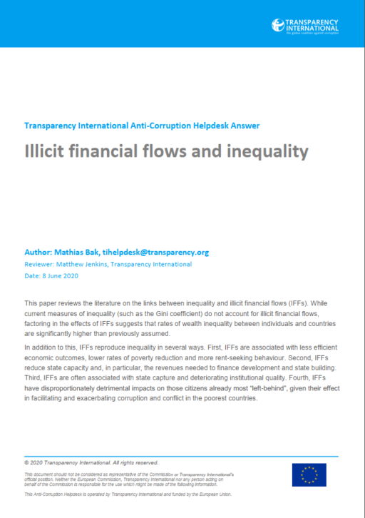 Illicit financial flows and inequality