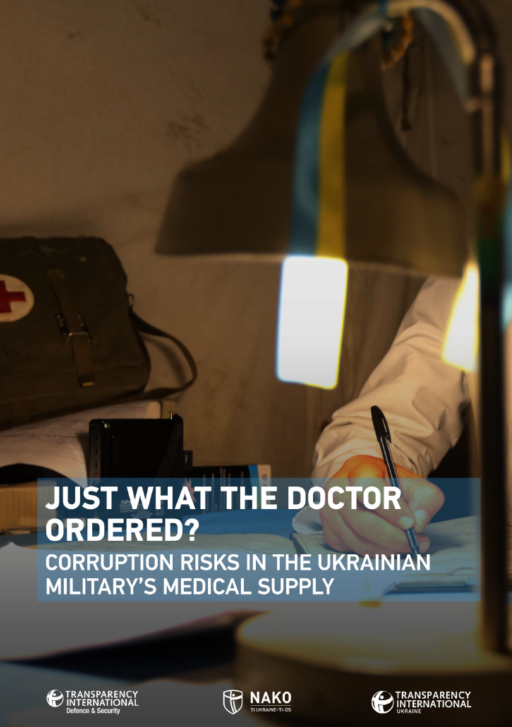 Just what the doctor ordered? Corruption risks in the Ukrainian military's medical supply