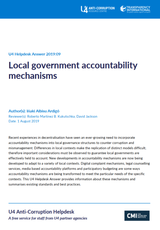 Local government accountability mechanisms