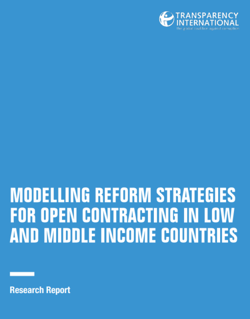 Modelling reform strategies for open contracting in low and middle income countries