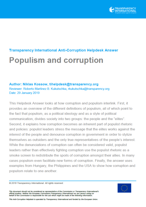 Populism and corruption