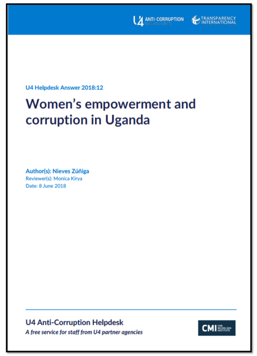 Women's empowerment and corruption in Uganda